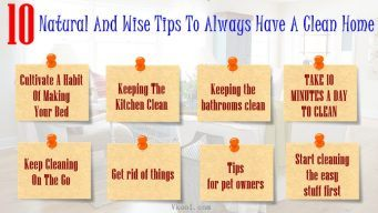 tips to always have a clean home