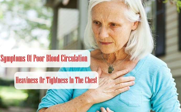 symptoms of poor blood circulation - heaviness or tightness in the chest