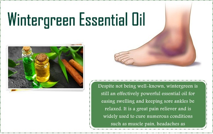 essential oils for swollen ankles - wintergreen essential oil