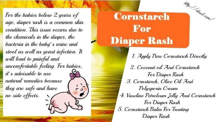Can cornstarch be used for diaper rash