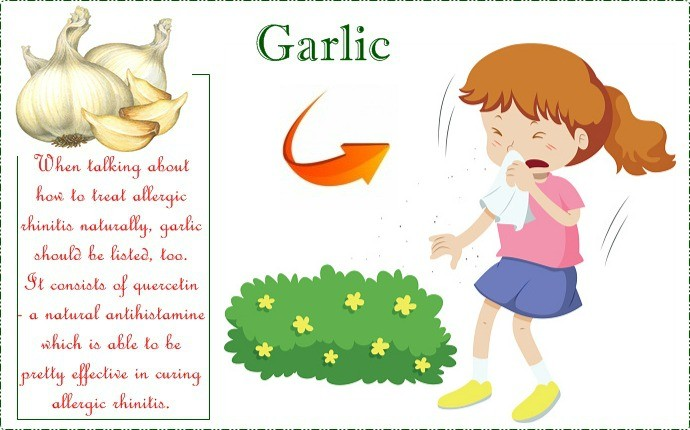how to treat allergic rhinitis - garlic