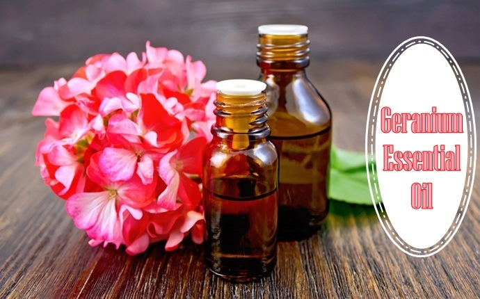 anti aging essential oils - geranium essential oil