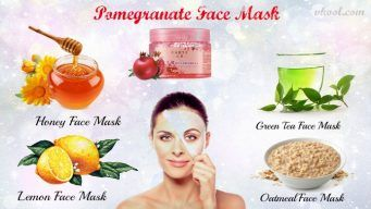 homemade pomegranate face mask