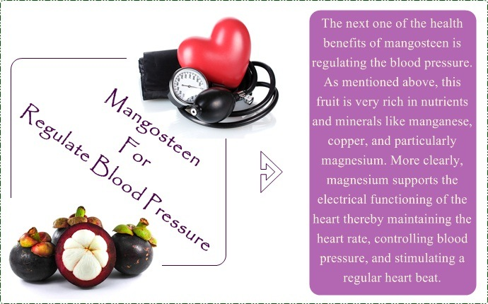 benefits of mangosteen - regulate blood pressure