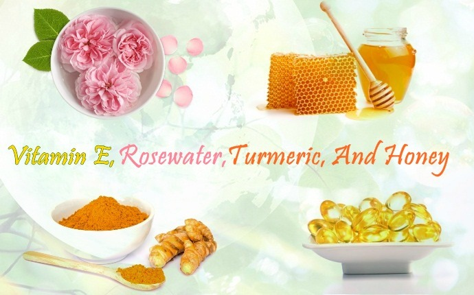 vitamin e for wrinkles - vitamin e, rosewater, turmeric, and honey