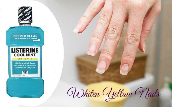 listerine mouthwash uses - whiten yellow nails