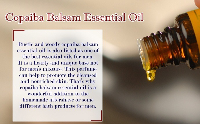 essential oils for men - copaiba balsam essential oil