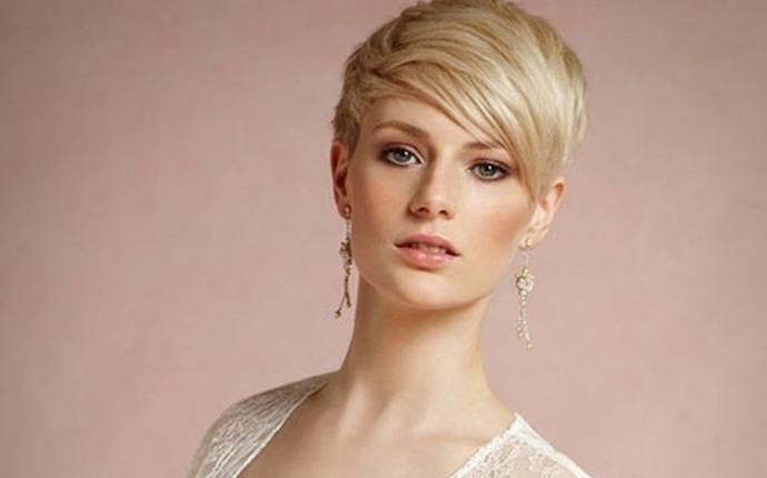 easy short hairstyles - short haircut with length on top