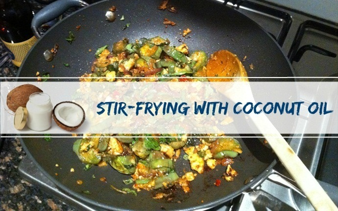 coconut oil for cooking - stir-frying with coconut oil