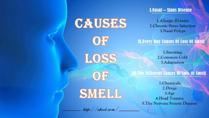 common causes of loss of smell