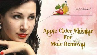 how to use apple cider vinegar for mole removal