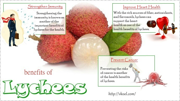 health benefits of lychees