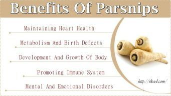benefits of parsnips for health
