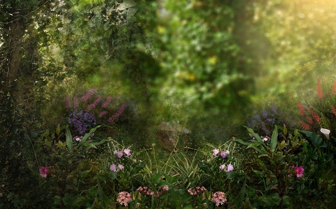 small garden design ideas - fantasy garden