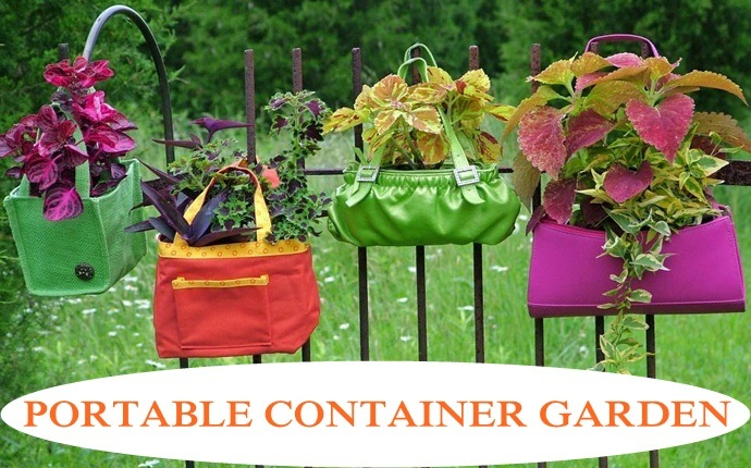 small garden design ideas - portable container garden