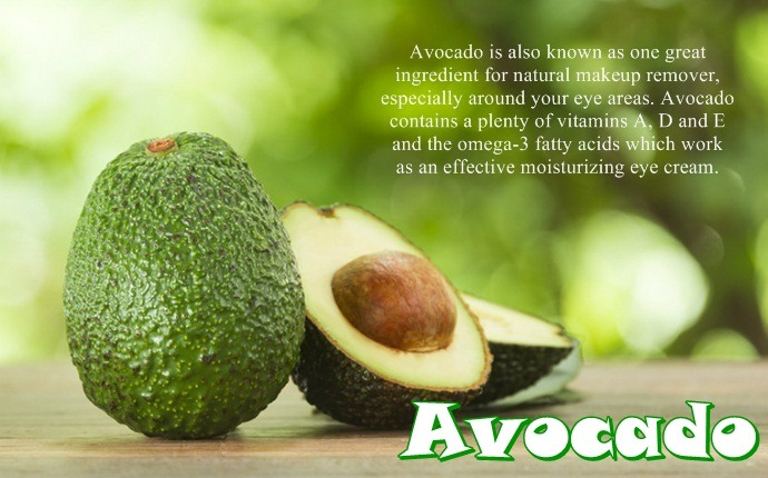 natural makeup remover - avocado