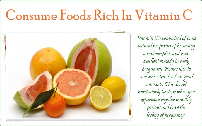 consume foods rich in vitamin c
