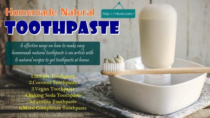 how to make homemade natural toothpaste