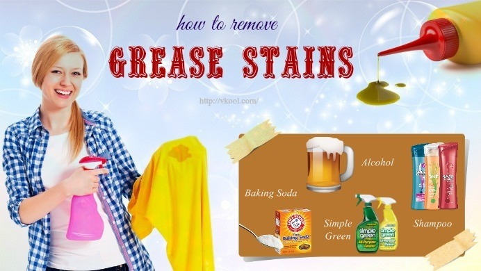 how to remove grease stains on clothes