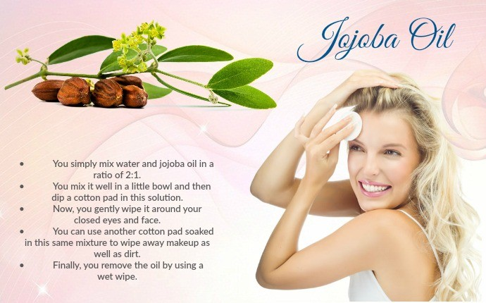 natural makeup remover - jojoba oil