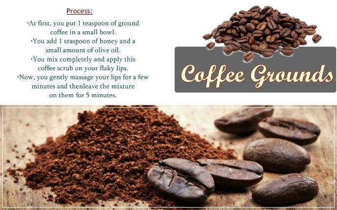 homemade lip scrubs - coffee grounds