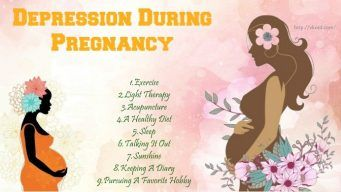 how to overcome depression during pregnancy