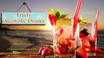 list of fruity alcoholic drinks