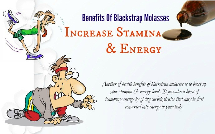 benefits of blackstrap molasses - increase stamina & energy