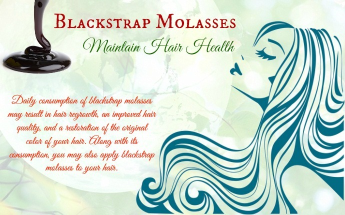 benefits of blackstrap molasses - maintain hair health