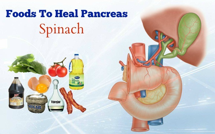 foods to heal pancreas - spinach