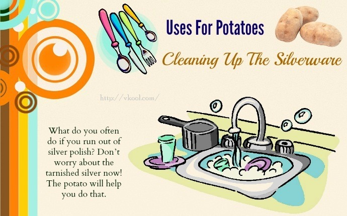 uses for potatoes - cleaning up the silverware