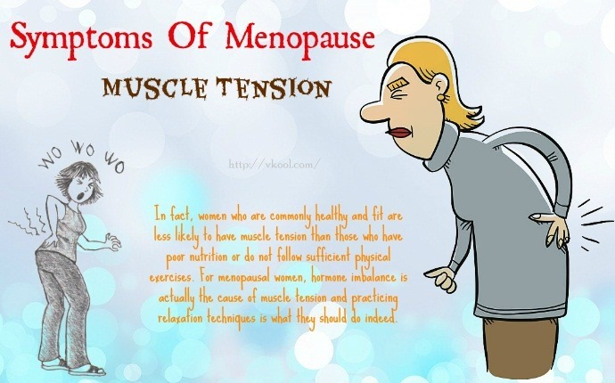 symptoms of menopause - muscle tension