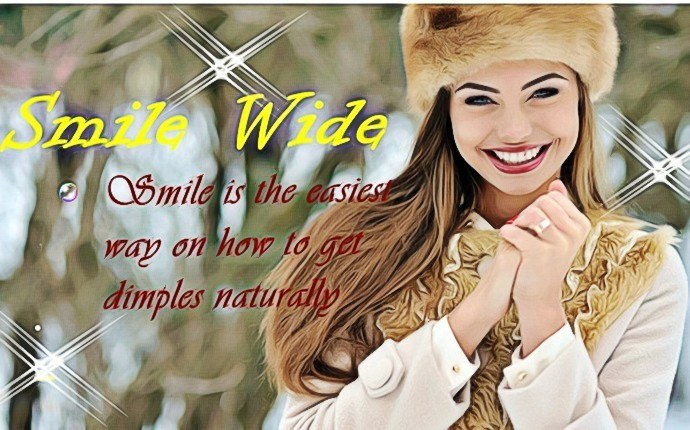how to get dimples - smile wide