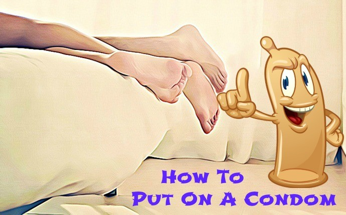 how to put on a condom - step 3