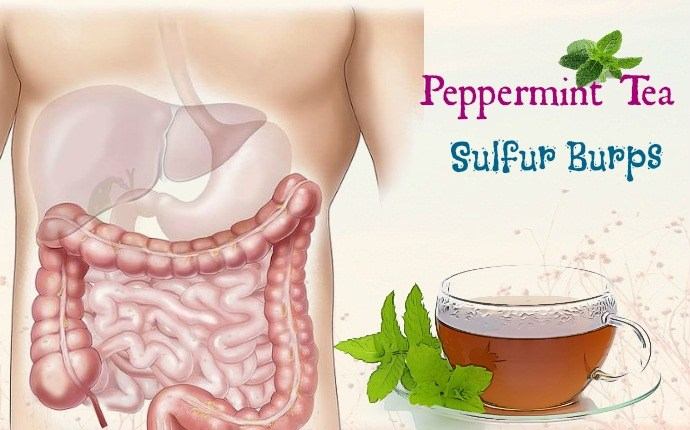 how to get rid of sulfur burps - peppermint tea